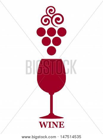 Red Wine Goblet With Grape