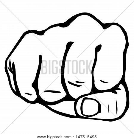 Vector Line Art Fist
