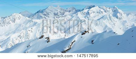 Dolomiten Alps Winter View (austria). Panorama.