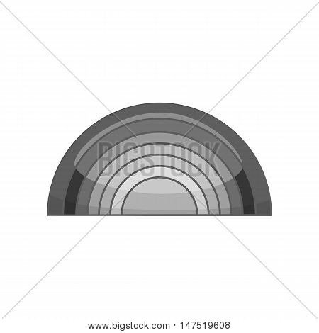 Rainbow icon in black monochrome style on a white background vector illustration
