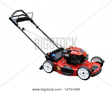 Lawn mower isolated over white background