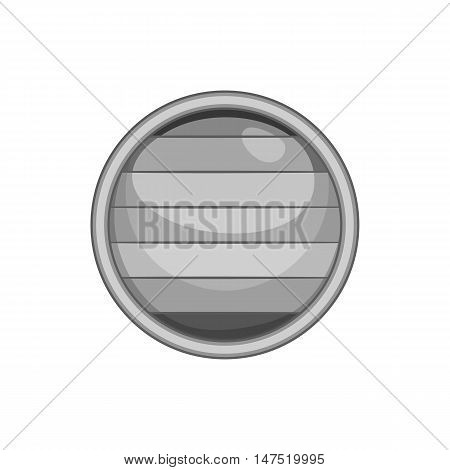 Flag of gay pride button icon in black monochrome style on a white background vector illustration