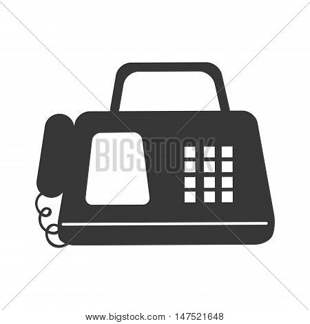 digital Fax machine office phone equipment telephone. vector illustration