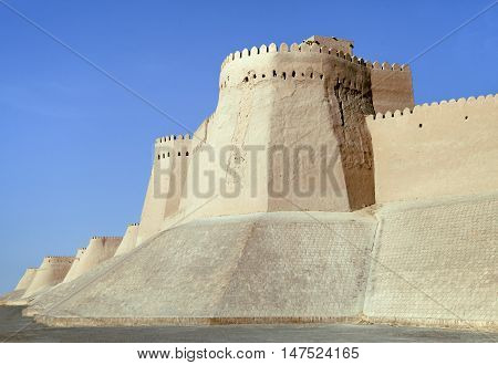 Walls of Itchan Kala - Old Town of Khiva, Uzbekistan, Silk Road