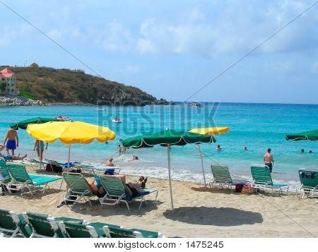 Beach In St. Thomas, Usvi