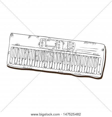 piano musical instrument. traditional music element. vector illustration