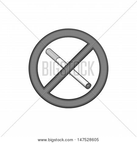 No smoking sign icon in black monochrome style isolated on white background vector illustration