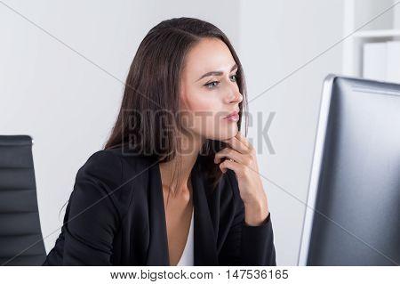 Hr Department Employee With Long Dark Hair