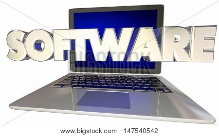 Software Development Applications Computer Laptop 3d Illustration