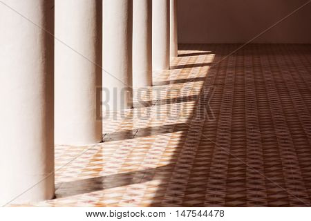 image of light and shadow on the floor
