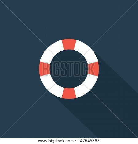 Safety Rings icon Flat design style vector illustration. long shadow icon.