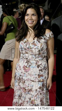 America Ferrara at the Los Angeles premiere of 'Just Like Heaven' held at the Grauman's Chinese Theatre Hollywood, USA on September 8, 2005.