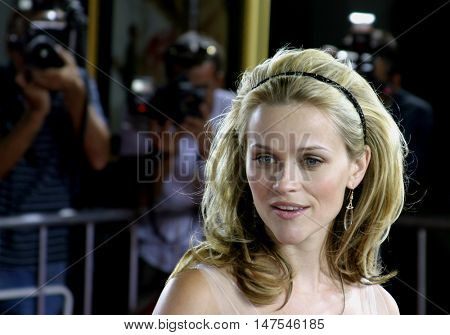Reese Witherspoon at the Los Angeles premiere of 'Just Like Heaven' held at the Grauman's Chinese Theatre Hollywood, USA on September 8, 2005.