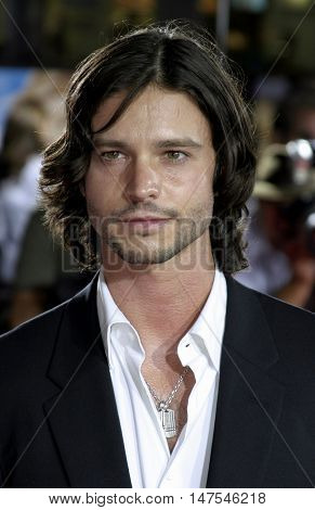 Jason Behr at the Los Angeles premiere of 'Just Like Heaven' held at the Grauman's Chinese Theatre Hollywood, USA on September 8, 2005.