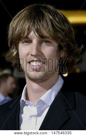 Jon Heder at the Los Angeles premiere of 'Just Like Heaven' held at the Grauman's Chinese Theatre Hollywood, USA on September 8, 2005.