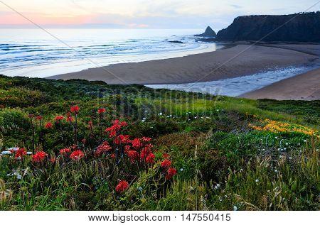 Odeceixe Beach Sunset View (algarve, Portugal).
