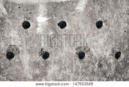 Grungy Gray Concrete Block Wall Texture