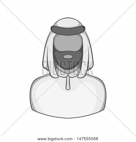 Male arab icon in black monochrome style isolated on white background. People symbol vector illustration
