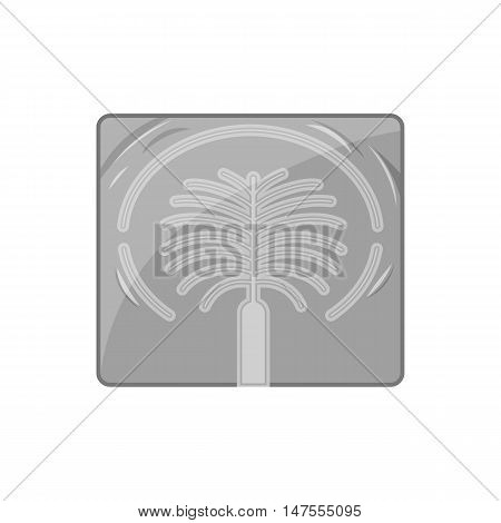 Artificial islands in UAE icon in black monochrome style isolated on white background. Structure symbol vector illustration