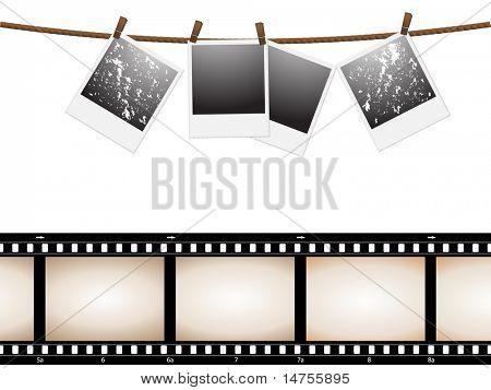 leere Foto-Bild und Kamera-film