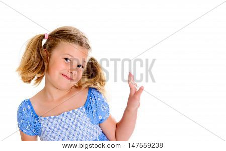 Little Smiling Girl With Pigtails