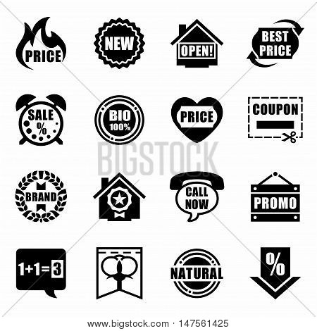 Vector Advertisement icon set on white background