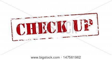 Rubber stamp with text check up inside vector illustration