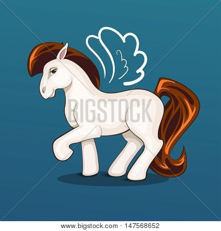 Illustration of beautiful write cute pony vector