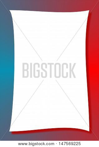 Abstract red and blue abstract frame suitable as a container or background