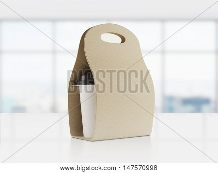 Brown Bag With Coffee