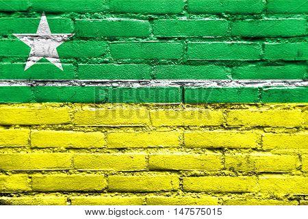 Flag Of Boa Vista, Roraima, Brazil, Painted On Brick Wall