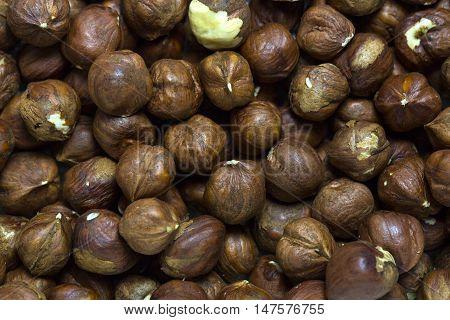 background filbert nuts close up shot Peeled Cashew