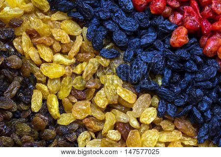 background dried raisin grapes closeup shot Berries