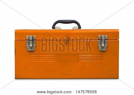 Old Orange Toolbox