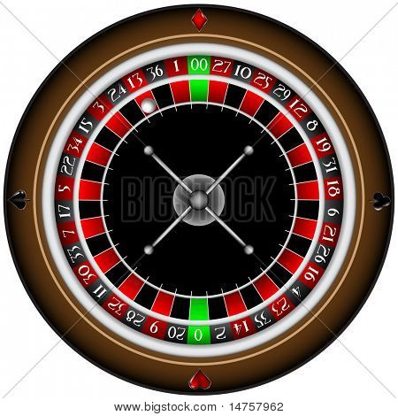 vector illustrated roulette