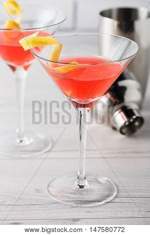 Fresh Home Made Cosmopolitan Cosmo Cocktails