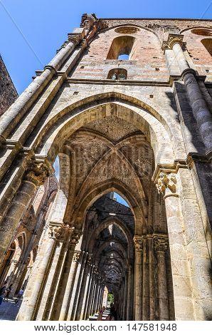 Hdr St Galgano Abbey Ruins In Chiusdino