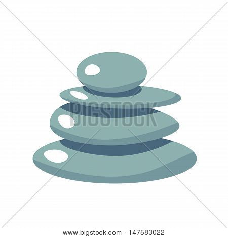 Spa Stone flat vector icon, health stone illustration, spa symbol. Cartoon wellness massage stone relaxation isolated white