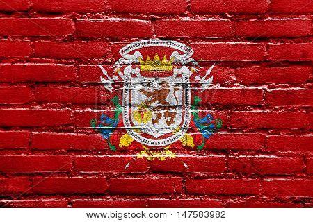 Flag Of Caracas, Venezuela, Painted On Brick Wall