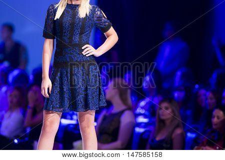 Sofia Fashion Week Female Blue Dress