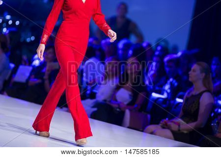 Sofia Fashion Week Red Suit