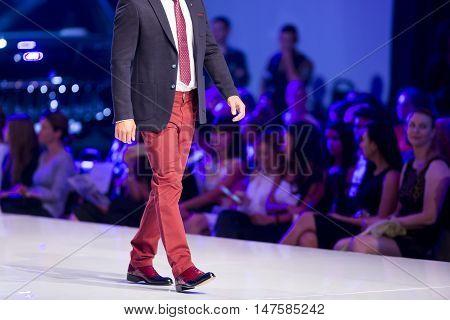 Sofia Fashion Week Male Red Pants