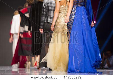 Sofia Fashion Week Female Models Backs