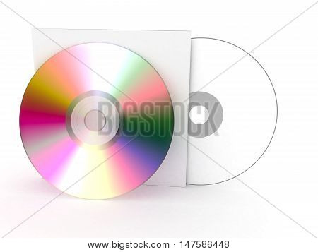box compact disk on a white background 3D illustration