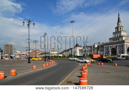 Moscow, Russia -03 June 2016. General view of Komsomolskaya Square in a summer day