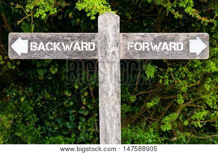 Backward Versus Forward Directional Signs