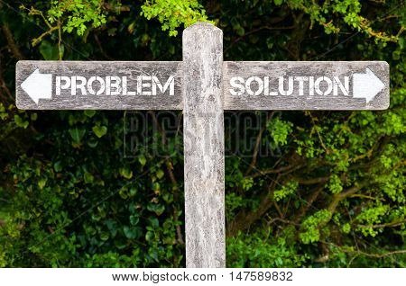 Problem Versus Solution Directional Signs