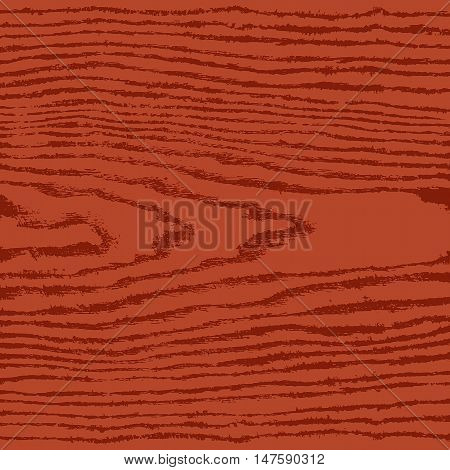 Brown wood texture background in square format. Realistic plank with annual years circles. Natural pattern swatch template in flat style. Vector illustration design elements in 8 eps
