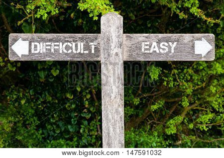 Difficult Versus Easy Directional Signs