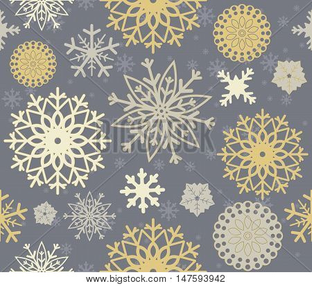 Perfect seamless pattern with stylish snowflakes. Elegant background can be used for linen, paper ,bed clothes, textile, cover ,card and more creative designs.